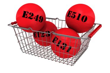 42863303 - harmful food additives in the shopping basket