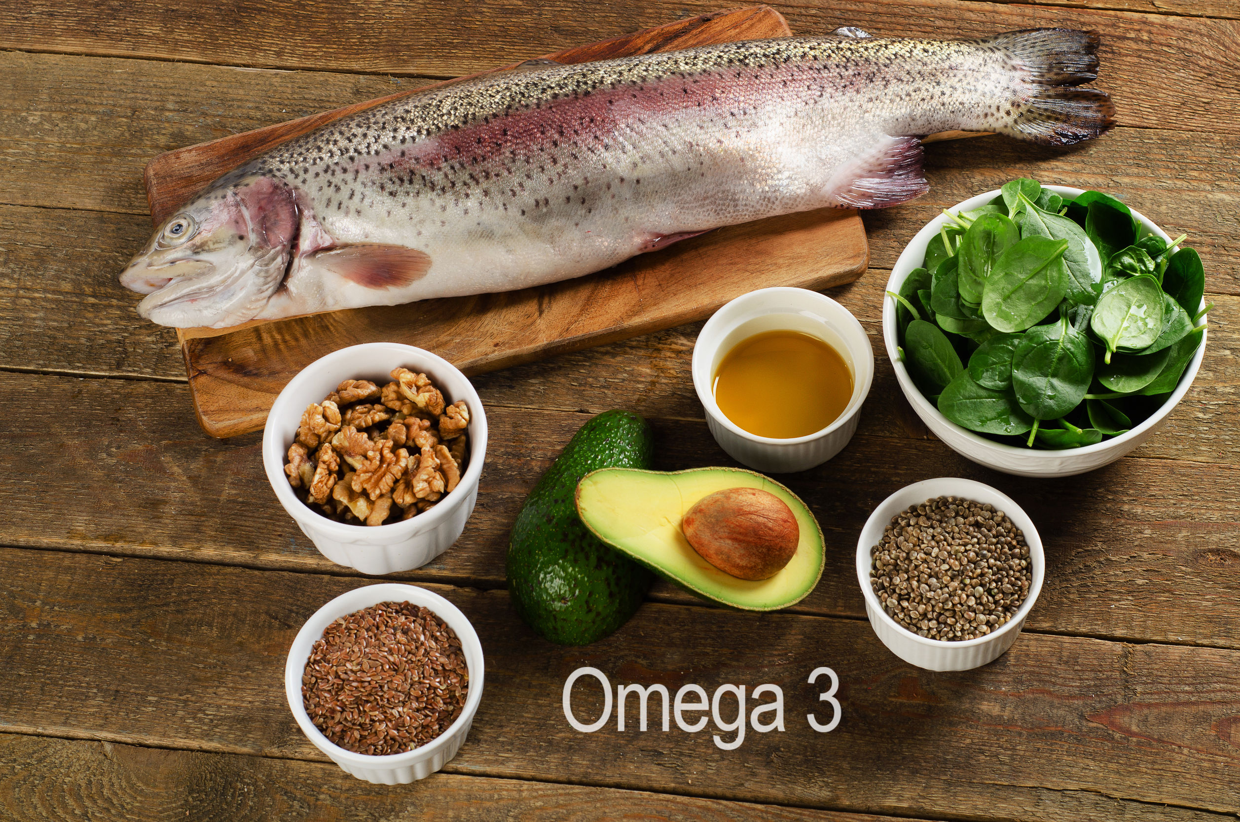 53650550 - foods highest in omega-3 fatty acids. healthy diet eating.