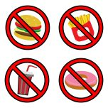 70441431 - fastfood prohibition sign